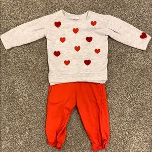 H&M Heart outfit 6-9 mths